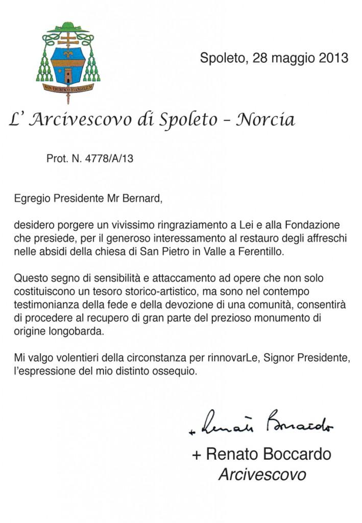 lettera vescovo