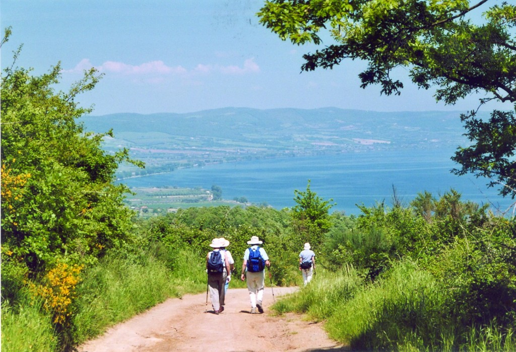 Towards Lake Bolsena