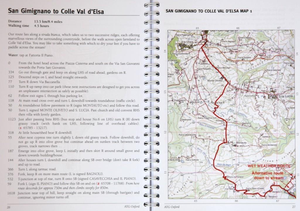 Route book sample