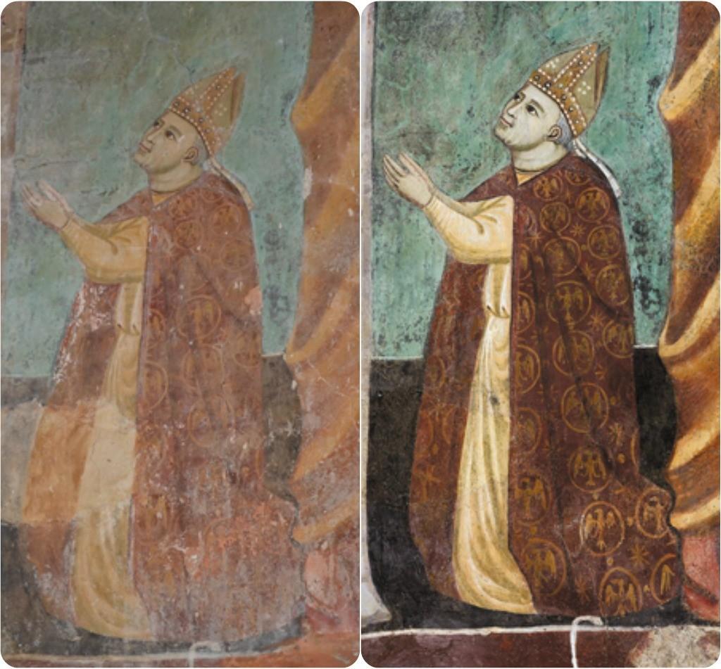 Abbey of S. Pietro in Valle Fresco Restoration, Umbria, Italy