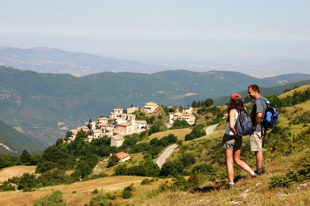 Overlooking the town of Gavelli, Italy