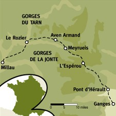 Map of the region