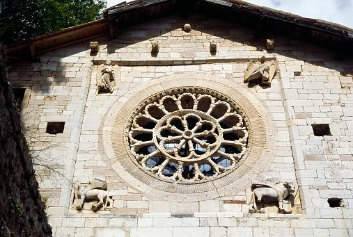 San Eutizio rose window
